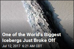 One of the World's Biggest Icebergs Just Broke Off