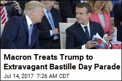 Trump, Macron Take in Elaborate Bastille Day Parade
