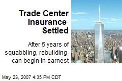 Trade Center Insurance Settled