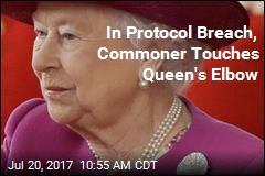 Canada Official Breaches Protocol, Touches Queen's Elbow