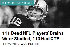 111 Dead NFL Players' Brains Were Studied; 110 Had CTE