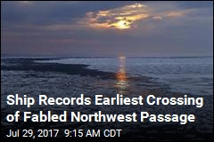 Ship Records Earliest Crossing of Fabled Northwest Passage