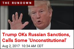 Trump Signs Russian Sanctions Into Law