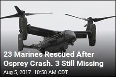 3 Marines Missing After Osprey Crashes Off Australia