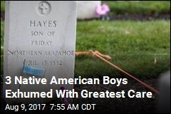 3 Native American Boys Go Home a Century After Death