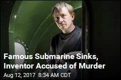 Famous Submarine Sinks, Inventor Accused of Murder