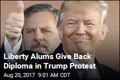 Liberty Alums Give Back Diploma in Trump Protest