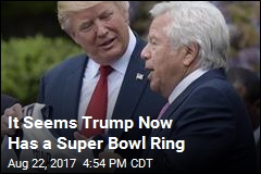 Patriots Gave Trump a Super Bowl Ring