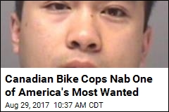 Canadian Bike Cops Nab One of America's Most Wanted