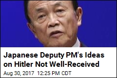 Japan's Deputy PM Pivots After Saying Hitler Had 'Right' Motive