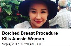Botched Breast Procedure Kills Aussie Woman