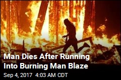 Man Dies After Running Into Burning Man Blaze