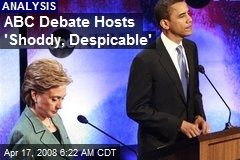 ABC Debate Hosts 'Shoddy, Despicable'