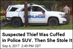 Suspected Thief Was Cuffed in Police SUV. Then She Stole It