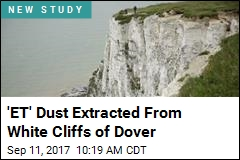 'ET' Dust Extracted From White Cliffs of Dover