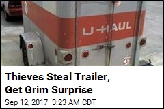 Thieves Steal Trailer With Body Inside