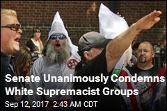 Senate Unanimously Condemns White Supremacist Groups