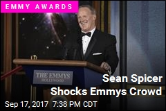 Sean Spicer Shocks Emmys Crowd