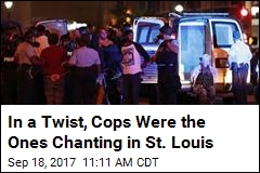 In a Twist, Cops Were the Ones Chanting in St. Louis