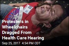 Protesters in Wheelchairs Dragged From Health Care Hearing