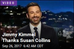 Jimmy Kimmel Thanks Susan Collins
