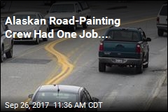Highway Painting Leaves a Mess in Alaska