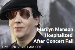 Marilyn Manson Hospitalized After Concert Fall