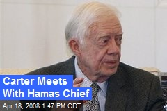 Carter Meets With Hamas Chief
