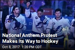 J.T. Brown Brings National Anthem Protests to the NHL