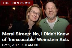Meryl Streep: No, I Didn't Know of 'Inexcusable' Weinstein Acts