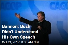 Bannon Lays Into 'Destructive' George W. Bush