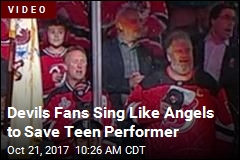 Devils Fans Sing Like Angels to Save Teen Performer