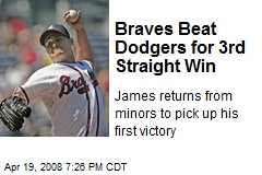 Braves Beat Dodgers for 3rd Straight Win