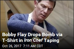 Bobby Flay Sows Confusion With Dramatic I-Quit Shirt