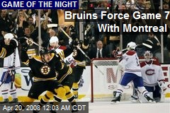 Bruins Force Game 7 With Montreal