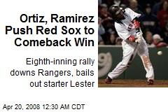 Ortiz, Ramirez Push Red Sox to Comeback Win