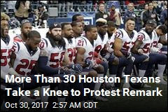 Texans Take a Knee to Protest Owner's Remark
