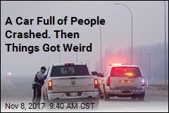 5 naked people arrested after bizarre car crash