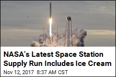 NASA's Latest Space Station Supply Run Includes Ice Cream