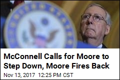 McConnell Calls for Roy Moore to 'Step Aside'