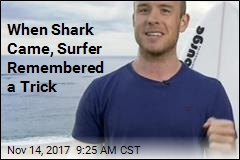 Rookie Surfer Borrows Pro Trick, Fends Off Shark