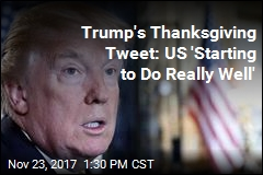 Trump's Thanksgiving Call to Troops: 'We're Really Winning'