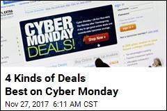 4 Kinds of Deals Best on Cyber Monday
