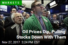 Oil Prices Dip, Pulling Stocks Down With Them