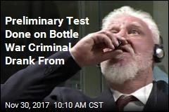 Prosecutor: War Criminal Drank Deadly Chemical