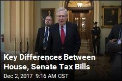 Key Differences Between House, Senate Tax Bills