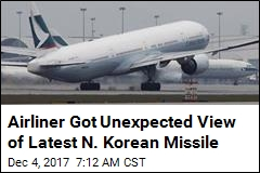 Passenger Jet Uncomfortably Close to Last N. Korea Missile
