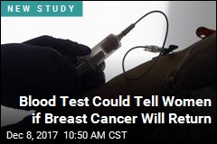Blood Test May Predict Breast Cancer Recurrence