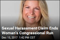 Female Candidate Ends Run Over Sexual Harassment Claim