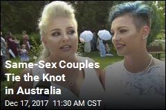 Same-Sex Weddings Start Early in Australia